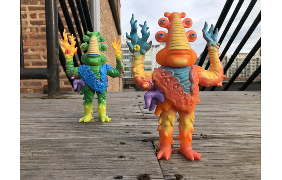 Kaijin No. 1 Lorbo [Orange] by Jim Woodring x Press Pop