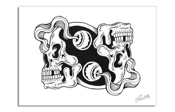 Yin Yang Skulls by Lurk and Destroy