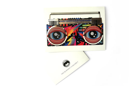 Boombox Notecard by Mac Blackout