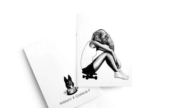 Notecard [Skater Girl] by MMont