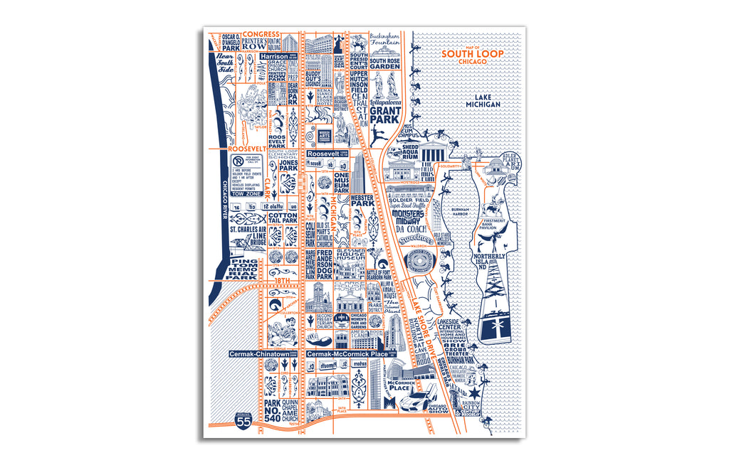 South Loop Map by Joe Mills