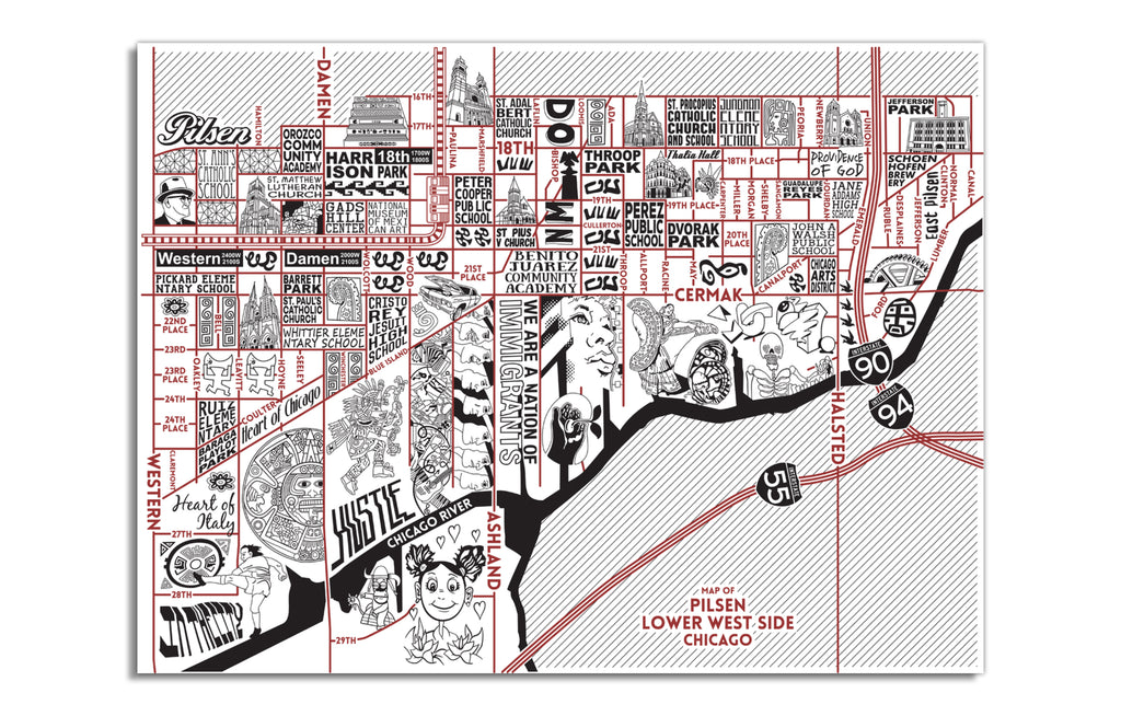 Pilsen / Lower West Side Map by Joe Mills