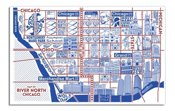 River North Map by Joe Mills