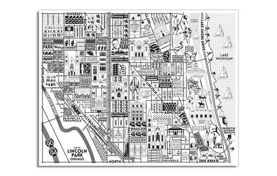 Lincoln Park Map by Joe Mills