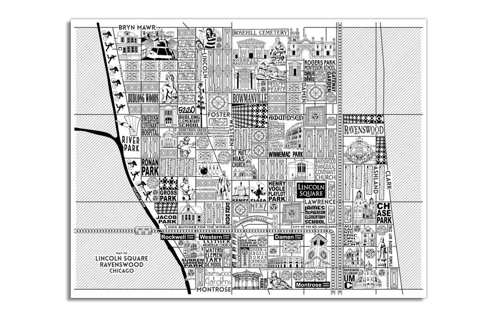 Lincoln Square Map by Joe Mills