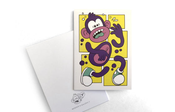 Notecard [Funky Monkey] by Mosher