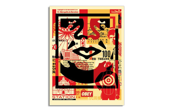 Face Collage [Bottom] by Shepard Fairey