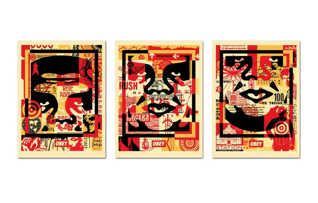Face Collage [Middle] by Shepard Fairey