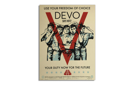DEVO VOTE! by Shepard Fairey