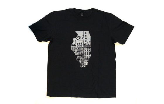 Old Chicago T-Shirt [LG/ Silver] by Kevin Demski