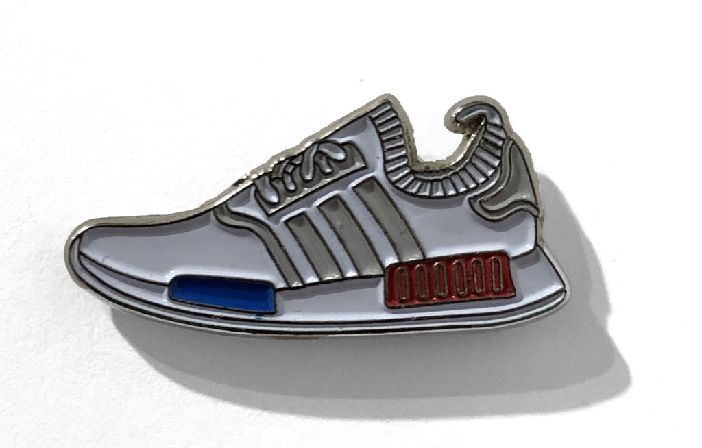 NMD [White] Enamel Pin by Reppin Pins