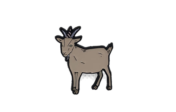 Goat Enamel Pin by Aviate Press