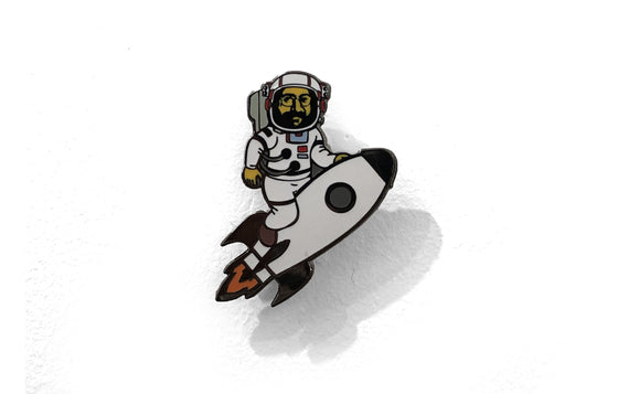 Rocketman Enamel Pin by Glass Cuisine