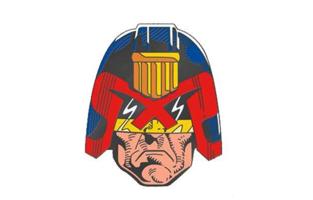 2000AD Judge Dredd Enamel Pin by Yesterdays Co