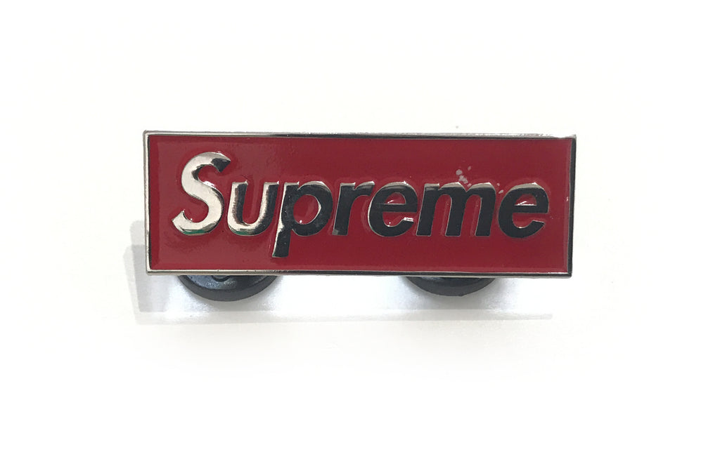 Red Supreme Enamel Pin by Danger Bot Kill Co.