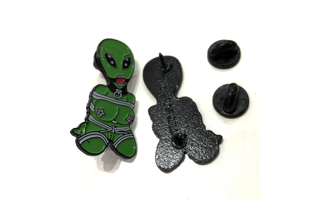 Enamel Pin [Bondage Alien] by Wizard Skull