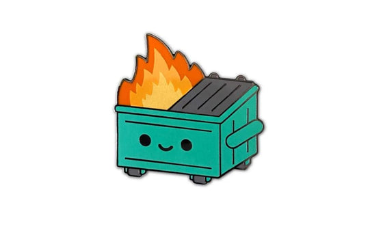 Lil Dumpster Fire Enamel Pin by 100% Soft