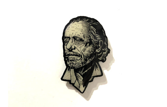 Bukowski Enamel Pin by Miles To Go