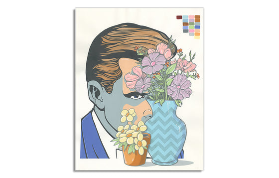 Untitled #1 [Man w/Flowers] by Steve Seeley