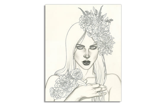 Untitled #2 [Woman w/Flowers] by Jenny Frison