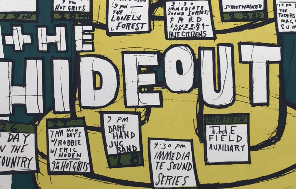 The Hideout Calendar by Jay Ryan