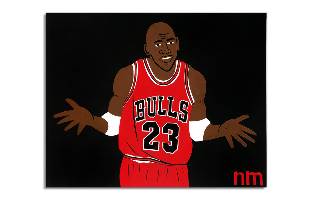 MJ Shrug by Nathan Mckee