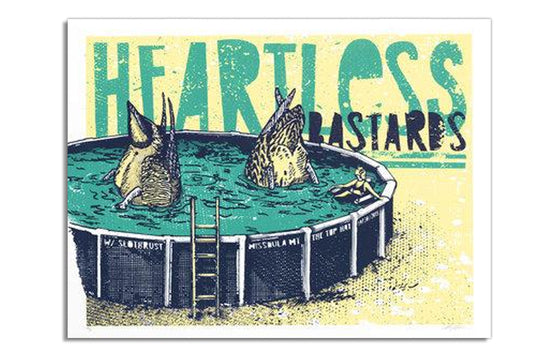 Heartless Bastards by Twin Home Prints