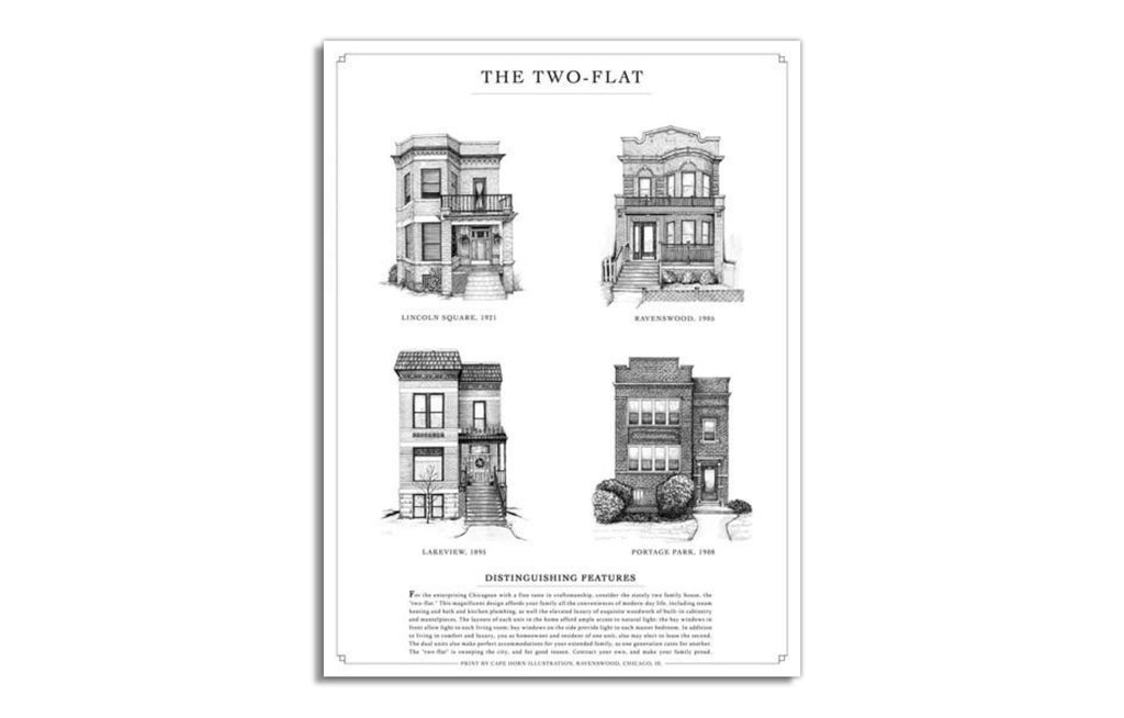 Two-Flat by Cape Horn Illustrations