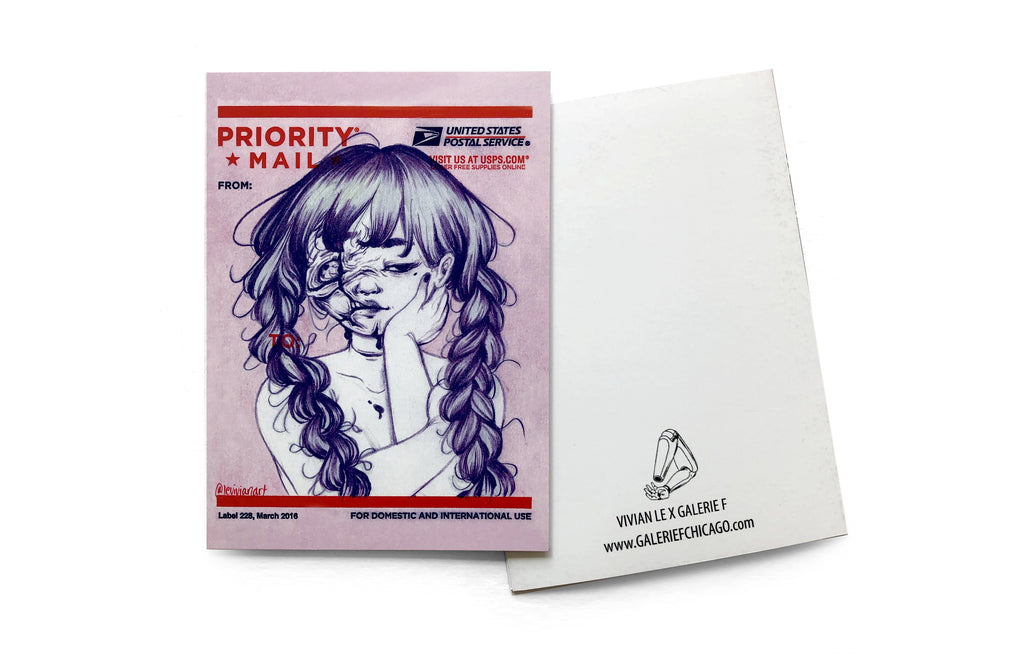 Notecard [Priority Mail] by Vivian Le