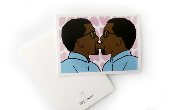 Notecard [Kiss Me I'm Kanye] by Wizard Skull