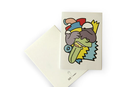 Abstract Bart Notecard by Wizard Skull