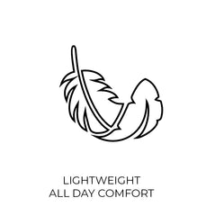 feather lightweight all day comfort design