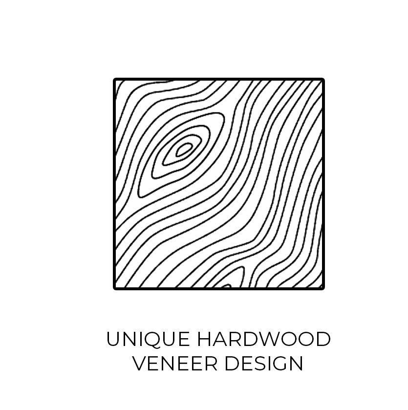 Unique Hardwood Veneer Design Icon