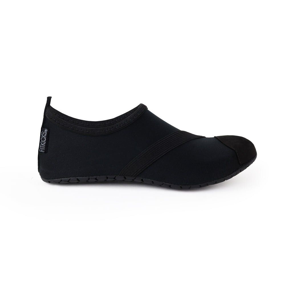 fitkicks all black for women, solid black fit kicks shoes