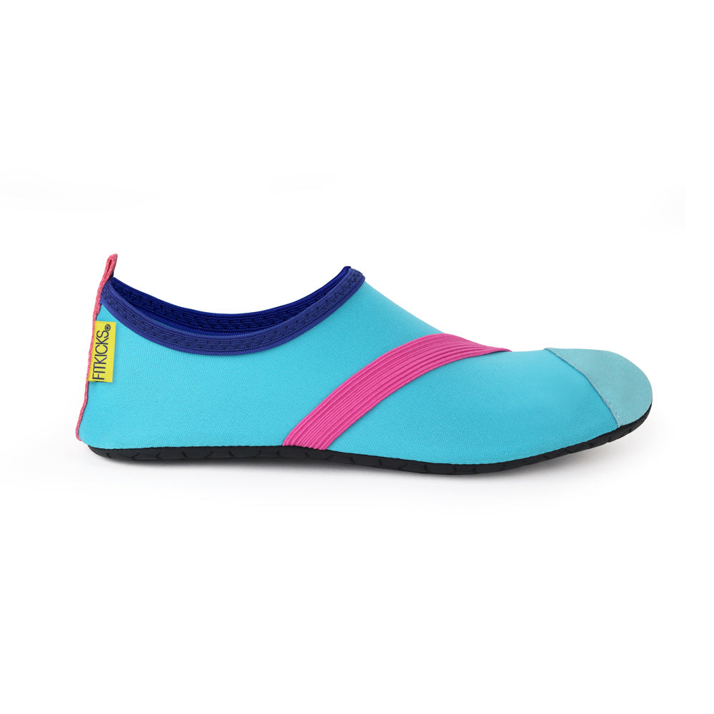 soft blue fitkicks for women, fit kicks in blue and pink
