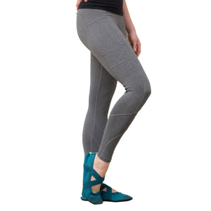 smokey gray leggings for workout, crossover leggings, grey, light