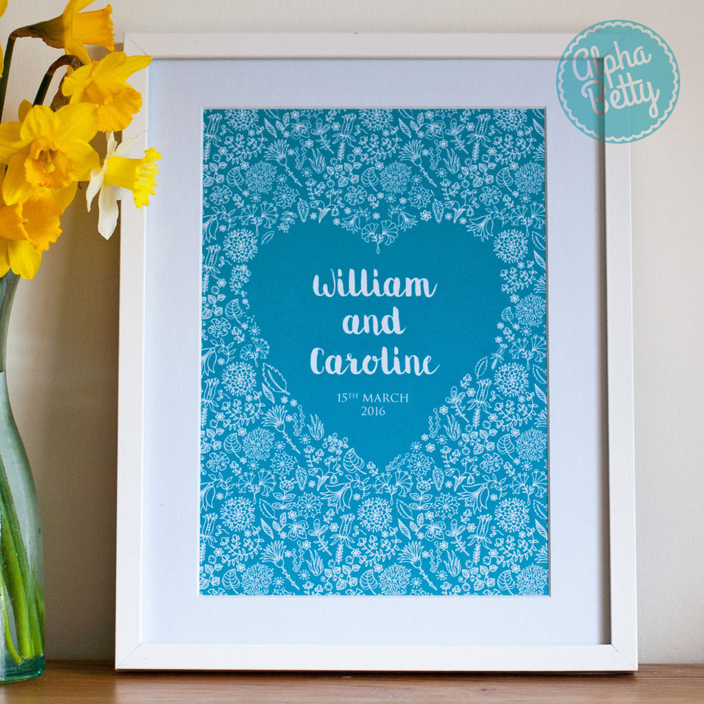 Wedding Gift For Bride And Groom personalised wedding gift ...