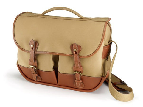 Billingham-Eventer Khaki Canvas / Tan Leather + Brass Trim