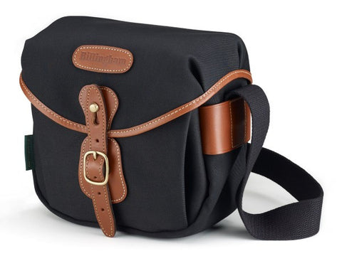 Billingham-Hadley Digital Black Canvas / Tan Leather