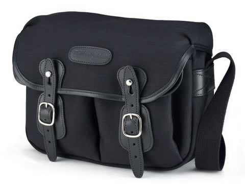 Billingham-Hadley Small Black Canvas / Black Leather