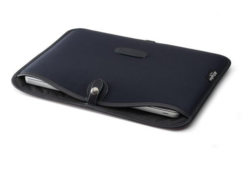 "Billingham-13"" Laptop Slip Black Canvas / Black Leather"