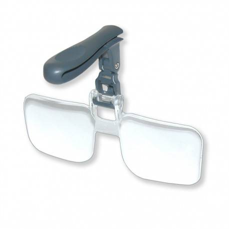 Green Clean Clip and Flip Hands Free Magnifier [SC-0500]
