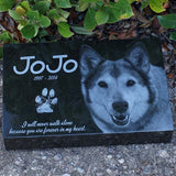 Black Granite Pet Marker