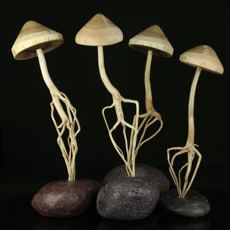 Enchanted Forest Mushrooms, Art Sculpure