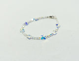 Children's  Butterfly Bracelet -  Blue, Clear AB, Green, Pink, Purple