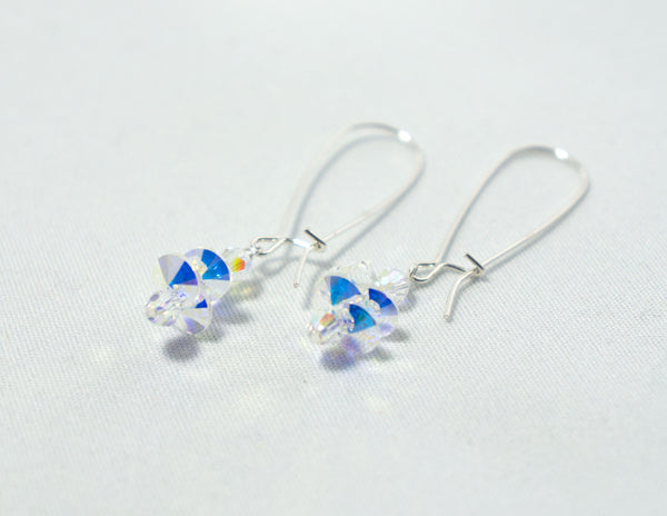 Clear Cluster Drop  Earrings
