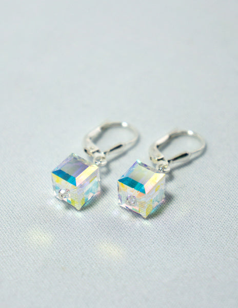 Swarovski Clear Cube Earrings