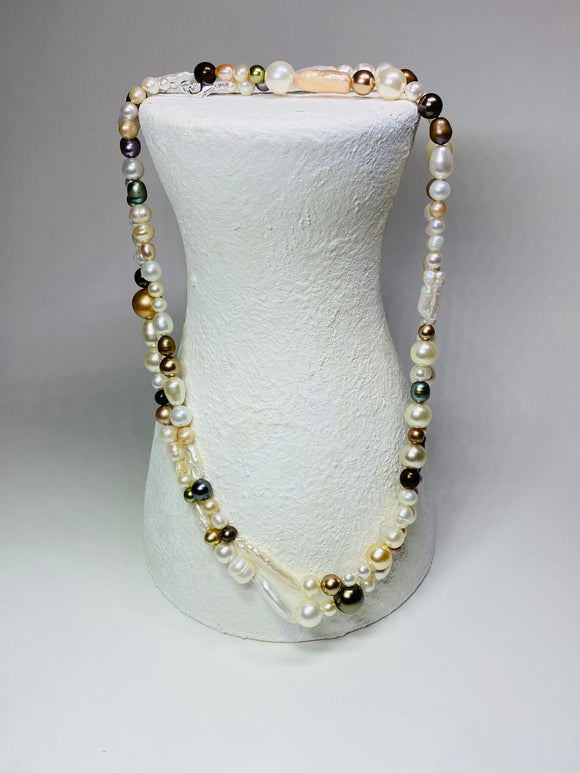 36 inch mixed Pearl necklace
