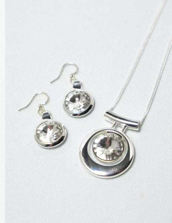 Contemporary Necklace and Earring Set