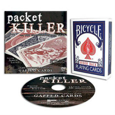 Packet Killer DVD - Includes Bicycle Gaff Deck in Blue